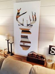 deer silhouette wall art all wood decor diy jumpstartcoffee with newest diy wood wall art