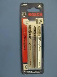 3 blades of bosch t101a3 4 14 tpi plexiglass cutting t shank jig saw