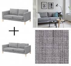 ikea karlstad sofa and loveseat