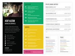 One Page Resume Template Adorable Landscape One Page Resume Template By Asif Aleem Dribbble