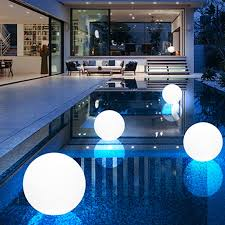 colorful outdoor garden glowing ball