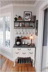 set up a coffee station in any unused corner in any part of your home