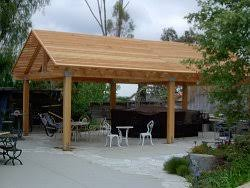 patio cover wood. While More Difficult And Expensive To Build, A Wood Patio Cover With Pitched Roof