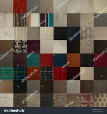 Textile Chart Many Color Texture Samples Stock Photo Edit