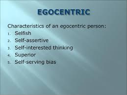 Image result for egocentrism