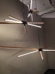led lights for chandelier. Designers Go Linear At ICFF With LED Stick Bulbs Led Lights For Chandelier