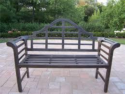 Amazing Of Outdoor Steel Bench Cast Aluminum Outdoor Metal Garden Garden Metal Bench
