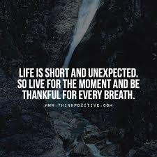Short Quotes About Life Extraordinary Positive Quotes Life Is Short And Unexpected So Live For The