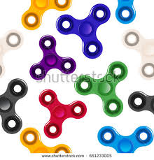 Fidget Spinner Pattern Simple Colorful Spinner Fidget Spinner Pattern White Stock Vector 48