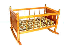wooden doll crib – Lebensleiter