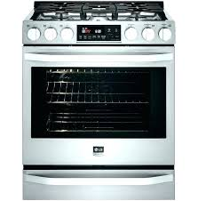 lg black stainless electric range stove glass top burner not working large fires