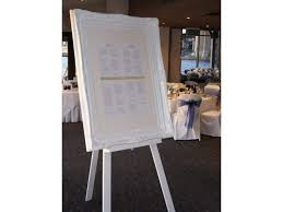 White Ornate Seating Chart Frame And Easel