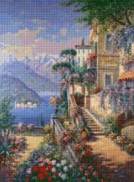 Cross Stitch Designs Free Download Pdf Mediterranean Villa Landscape Cross Stitch Pattern Pdf