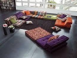 roche bobois floor cushion seating. Home Furniture Ideas, Bohemian Living Room Floor Cushion Design, Kitchen Flooring Roche Bobois Seating