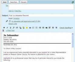 Sample Email Letter Etiquette With Attachments Perfect Resume With
