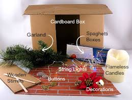 faux fireplace materials large cardboard box