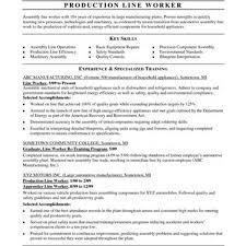 Production Line Worker Job Description For Resume Best Of Line