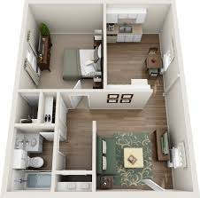 One Bedroom Floor Plans Northfield Lodge Apartments