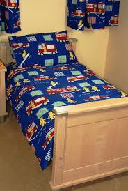 fire engine cot bed junior duvet cover pillowcase cotton 120x150cm co uk baby