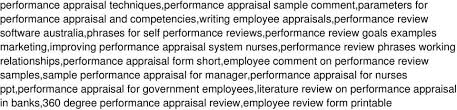 Performance Reviews Samples Performance Evaluation Review Examples Full Phrases For