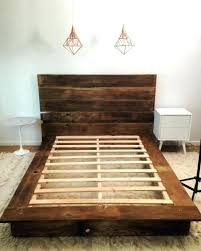 Reclaimed Wood Bed Frame Canada With Storage Australia King All ...