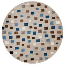 whimsical light blue 5 ft round indoor area rug