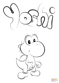 Small Picture Baby Yoshi coloring page Free Printable Coloring Pages