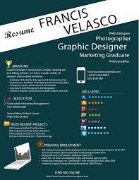 Resume For Graphic Designer Design Resume Template
