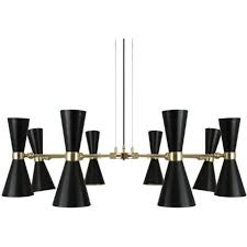 cairo contemporary black and gold led 8 arm hanging ceiling light