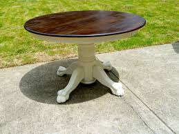 claw foot table round oak coffee table with claw feet