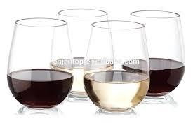 stemless acrylic wine glasses free unbreakable plastic glass bulk canada