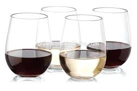 stemless acrylic wine glasses free unbreakable plastic glass bulk canada