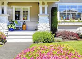 ... Large-size of Relaxing Exterior House Also Curb Appeal Landscaping As  Wells As Flat Roof ...