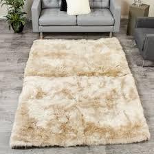 extra large stone sheepskin area rug 5x8 feet
