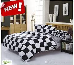 designer black white square king queen full size bedding set comforter sheet duvet cover linen home textile pillow case n23 king size duvet covers