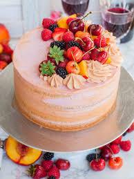 Summer Fruit Sangria Cake Recipe Video Tatyanas Everyday Food