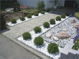 stone landscaping front garden design