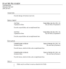 Blank Resume Templates For Microsoft Word Stunning Free Blank Resume Templates For Letter Word Template Microsoft