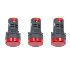 22mm Indicator Lights Honjie Ac Dc 12v Led Indicator Lights Flush Panel Mount Red