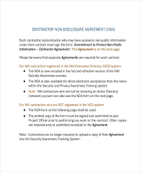 Nda Document Template Non Disclosure Agreement Template 9 Free Word Pdf Documents