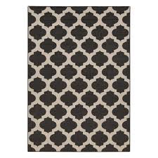 surya alfresco black and cream area rug view larger