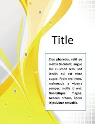 Word Template Cover Page Word Documentation Cover Page Template Very Simple And Elegant