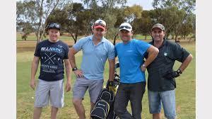 gallery port a police charity golf day the transcontinental from left sam hilder matt hall ben hall and kym dawson