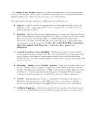Graduate School Resume Sample Httpwww Resumecareer Info Objectives
