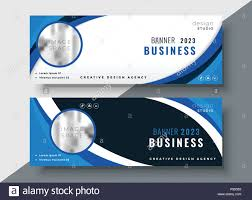 Business Banner Design Set Of Two Professional Corporate Business Banners Design Stock