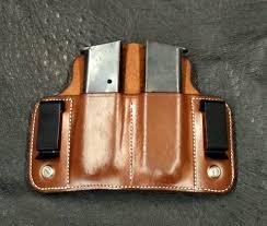 Dual Magazine Holder Interesting Dual Carry Double Mag Single Stack 32 ACP DM Bullard Leather Mfg
