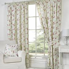 Patterned Curtains Living Room Pippa Floral Print Piped Cushion Cover Pair Natural Napady Do
