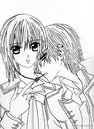 Small Picture Vampire Knight Coloring Pages To Print Coloring Coloring Pages