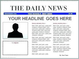 Newspaper Article Template For Pages Newspaper Front Pages Template For Word Templates Skincense Co