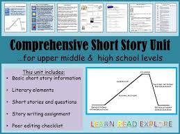 best th grade lit short stories images comprehensive short story unit upper middle and high school years